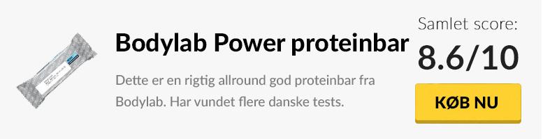Test af bodylab power proteinbar
