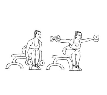 Bentover lateral raises