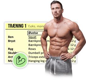 gratis træningsprogram til større muskler